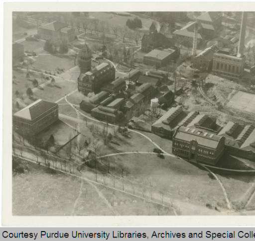 Aerial photograph of Michael Golden Labs