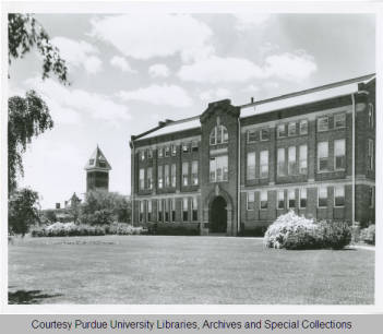 Exterior photograph of Michael Golden Labs, May 17, 1932