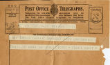 Telegram, 1932 May 21, Baltimore, to Miss Amelia Earhart, Londonderry