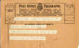 Telegram, 1932 May 21, Union City, to Amelia Earhart, Londonderry