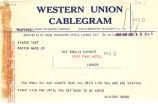 Telegram, 1928 June 20, Boston, Mass. to Amelia Earhart, London, Eng.