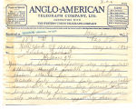 Telegram, 1932 May 20, New York, N.Y., to Amelia Earhart, H. Grace, Nf.