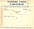 Telegram, 1928 June 20, Boston, Mass., to Amelia Earhart, London