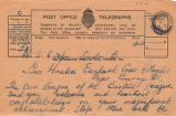Telegram, 1928 June 18, London, to Miss Amelia Earhart, Burry Port