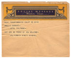 Telegram, 1932 June 20, Santa Monica, Calif., to Amelia Earhart