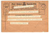 Telegram, 1932 May 21, St. Johns, Nf., to Amelia Earhart, Londonderry