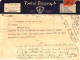 Telegram, 1932 May 19, Saint John, N.B., to G.P. Putnam