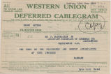 Telegram, 1928 June 22, London, to Wm. P. McCracken Jr., Washington, D.C.