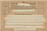Telegram, 1932 May 21, London, to Amelia Earhart Putnam, Londonderry