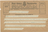 Telegram, 1932 May 32, New York, to Mrs. Amelia Earhart Putnam, Londonderry