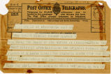Telegram, 1932 May 21, Washington, to Mrs. Amelia Earhart Putnam