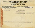 Telegram, 1932 May 21, Washington, D.C., to Amelia Earhart, London