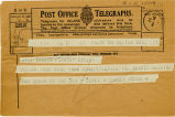 Telegram, 1932 May 21, Boston, Mass., to Miss Amelia Earhart, Londonderry