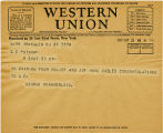 Telegram, 1932 May 21, Salem, N.J., to G.C. Putnam
