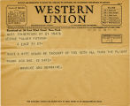 Telegram, 1932 May 21, New York N.Y. to George Palmer Putnam