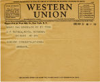 Telegram, 1932 May 21, Brooklyn, N.Y., to G.P. Putnam