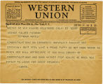 Telegram, 1932 May 21, Hollywood, Calif., to George Palmer Putnam