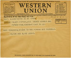 Telegram, 1932 May 21, Washington, DC, to George Palmer Putnam