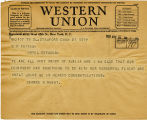 Telegram, 1932 May 21, Stamford, Conn., to G.P. Putnam