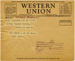 Telegram, 1932 May 21, New York, NY, to George Palmer Putnam, Rye, NY