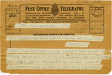 Telegram, 1932 May 21, Newtownards, to Miss Earhart, Londonderry