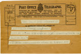 Telegram, 1932 May 21, St. John, NB, to Amelia Earhart, Londonderry