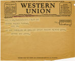 Telegram, 1932 May 22, Santa Monica, Calif., to George Palmer Putnam, Rye, NY
