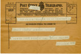 Telegram, 1932 May 21, Trenton, NJ, to Amelia Earhart, Londonderry, Ireland