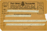 Telegram, 1932 May 21, Washington, to Amelia Earhart, Londonderry