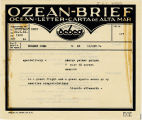Telegram, 1932 May 22, Stuttgart, to George Palmer Putnam, New York