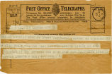 Telegram, 1932 May 22, London, to Amelia Earhart, Londonderry