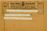 Telegram, 1932 May 22, Hasbrouck Heights, NJ, to Amelia Earhart, Londonderry