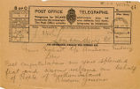 Telegram, 1932 May 22, Londonderry, to Miss Earhart, London