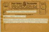Telegram, 1932 May 22, Paris, to Amelia Earhart, Londonderry