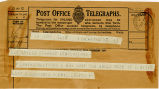 Telegram, 1932 May 22, Edgewater, NJ, to Amelia Earhart, Londonderry