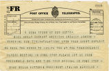 Telegram, 1932 May 22, Rome, to Miss Amely Earhart, London