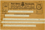 Telegram, 1932 May 22, New York, to Amelia Earhart, Londonderry