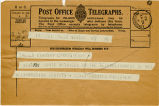 Telegram, 1932 May 22, Newark, NJ, to Amelia Earhart, Londonderry