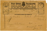 Telegram, 1932 May 22, Paris, to Amelia Earhart, Londonderry, Ireland