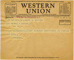 Telegram, 1932 May 22, London, to George P. Putnam, Rye, NY
