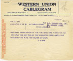 Telegram, 1932 May 22, Binghampton, NY, to Amelia Earhart Putnam, London