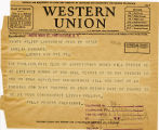 Telegram, 1932 May 22, Lansdowne, Penn., to Amelia Earhart, Rye, NY