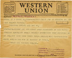 Telegram, 1932 May 22, San Francisco, Calif., to Geo Palmer  Putnam, Rye, NY