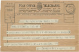 Telegram, 1932 May 22, Cramlington, NY, to Amelia Earhart, Londonderry