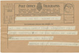 Telegram, 1932 May 23, New York, to Mrs. Amelia Earhart Putnam, Londonderry, Ireland