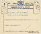 Telegram, 1932 May 23, Paris, to Amelia Earhart Putnam, London