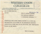 Telegram, 1932 May 23, Akron, Ohio, to Amelia Earhart, London