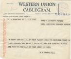 Telegram, 1932 May 23, Syracuse, NY, to Amelia Earhart Putnam, London