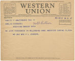 Telegram, 1932 June 17, Ft. Worth, Tex., to Amelia Earhart