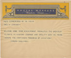 Telegram, undated, New York, NY, to Amelia Earhart